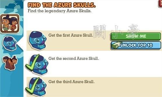 Adventure World, Find The Azure Skulls.