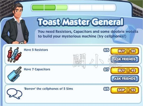 The Sims Social, Toast Master General 3