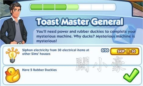 The Sims Social, Toast Master General 4