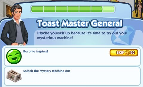 The Sims Social, Toast Master General 7