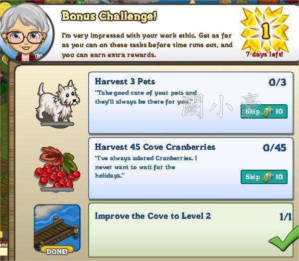 FarmVille, Bonus Challenge 1