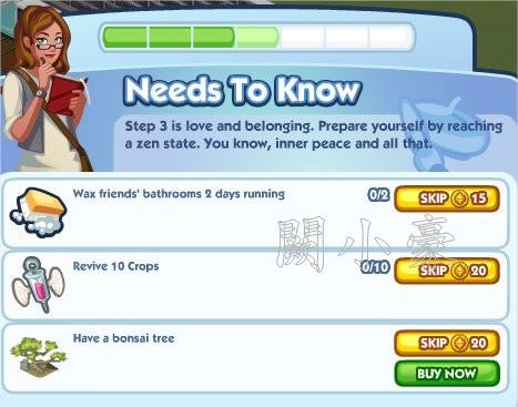 The Sims Social, Need to Know 4