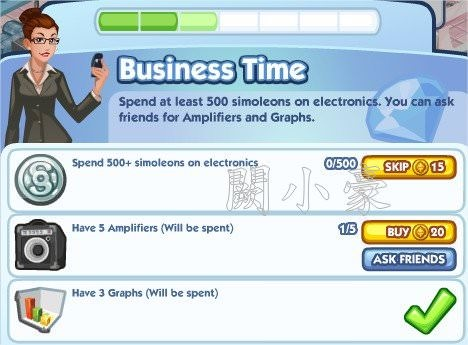 The Sims Social, Business Time 3