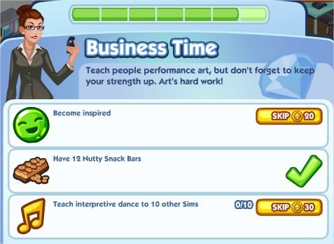 The Sims Social, Business Time 7