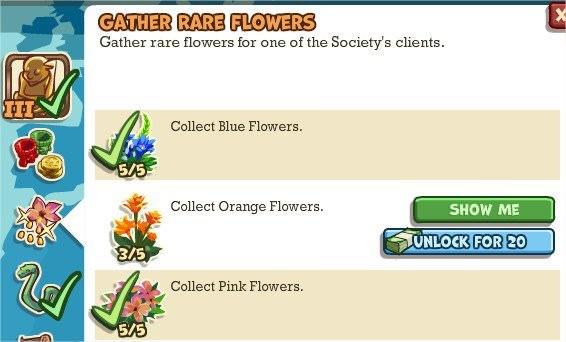 Adventure World, Gather Rare Flowers