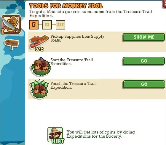 Adventure World, Tools For Monkey Idol