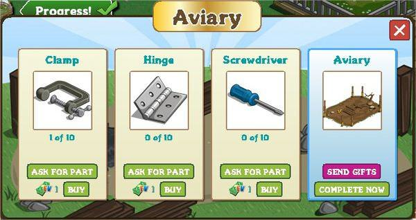 FarmVille, aviary