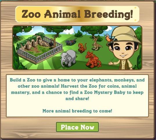 FarmVille, zoo