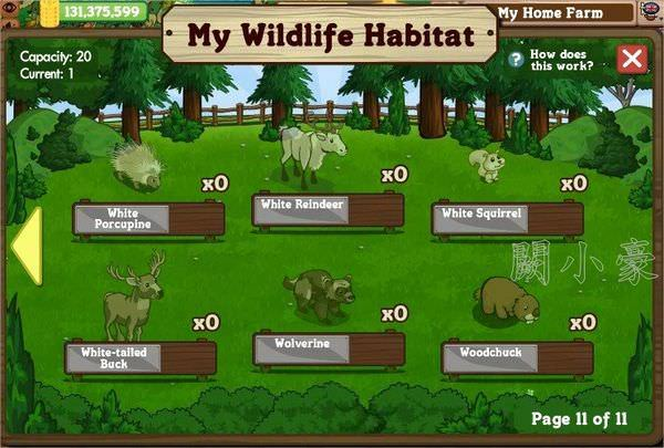 FarmVille,  Wildlife