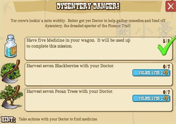 Dysentery Danger