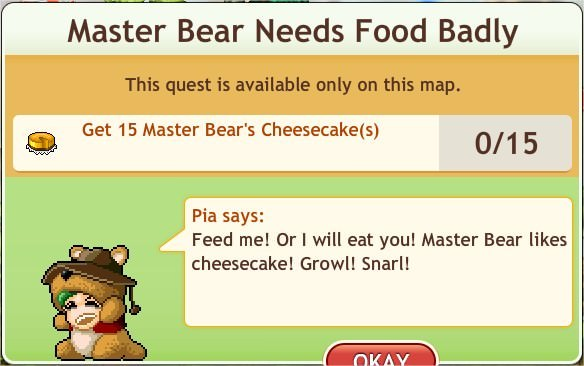 任務:Master Bear Needs Food Badly