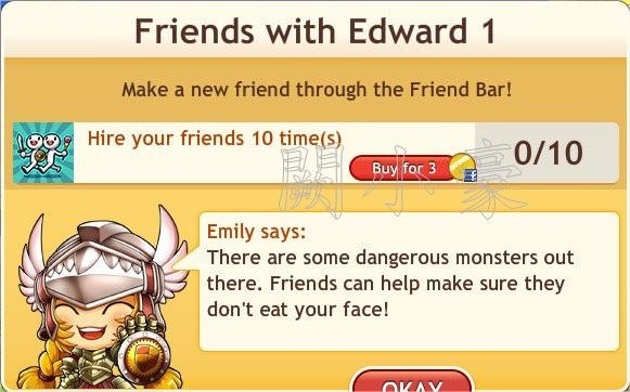 任務:Friends with Edward 1