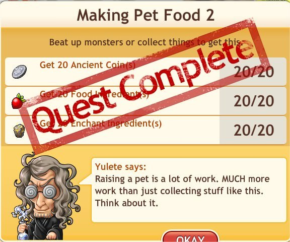任務:Making Pet Food 2
