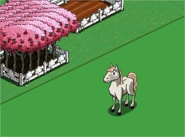 FarmVille White Mustang