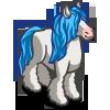 Blue Mane Gypsy Horse