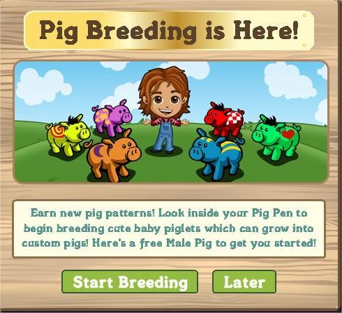 FarmVille, pig pen