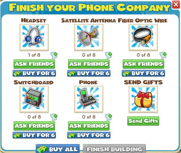 CityVille, Phone Company