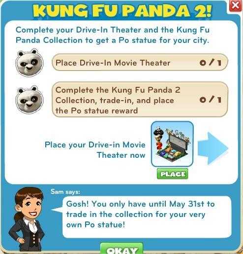 CityVille, Kung Fu Panda 2