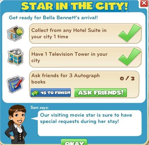 CityVille, Movie Star