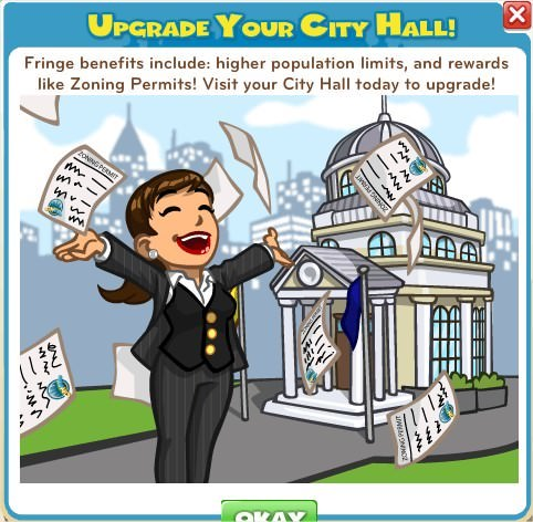 CityVille, City Hall