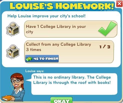 Louise's Homework!