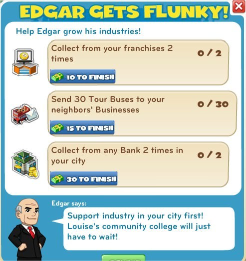 Edgar Gets Flunky!