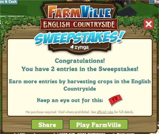 FarmVille, 抽獎
