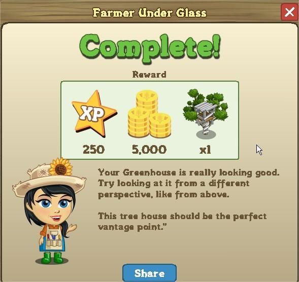 FarmVille, Farmer Under Glass