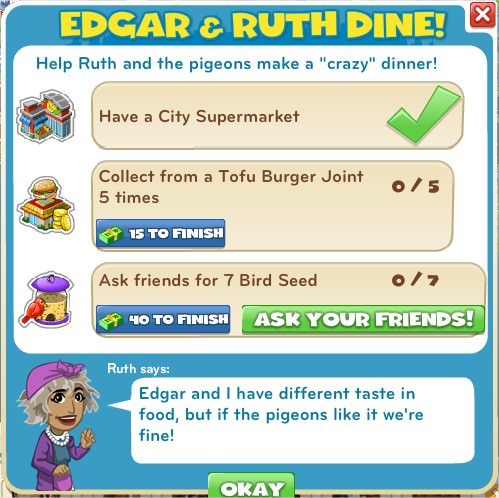Edgar & Ruth Dine!