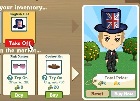 FarmVille, 拿英格蘭帽