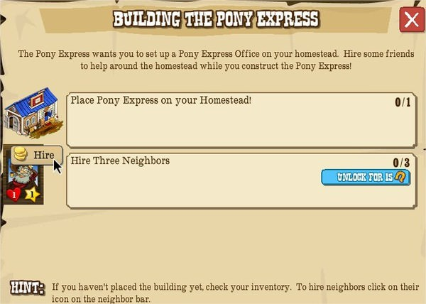 BUILDING THE PONY EXPRESS
