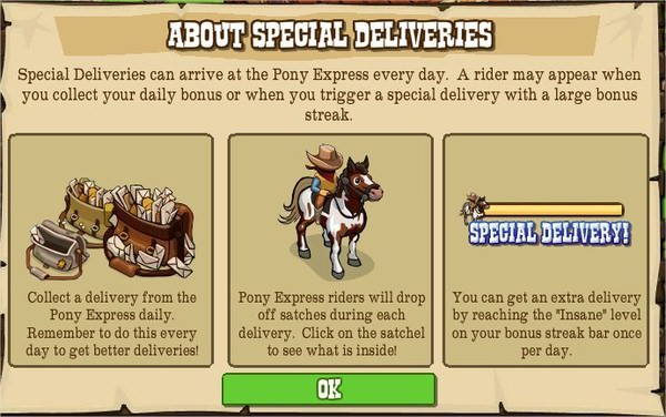 FrontierVille, Pony Express