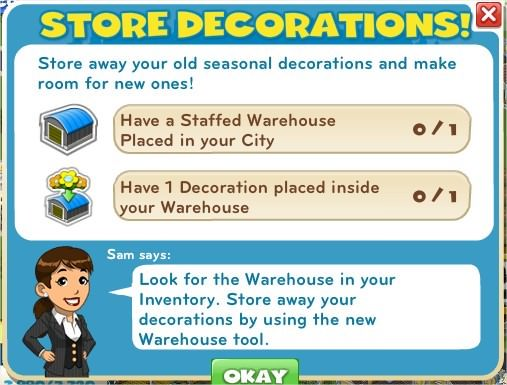 Store decorations!
