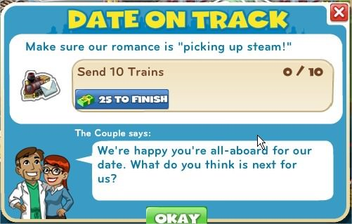 Date on Track