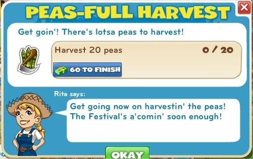 Peas-full Harvest