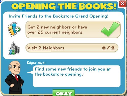Opening the books!