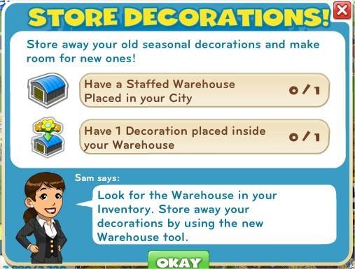 Store decorations!
