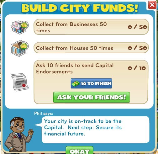 Build City funds!