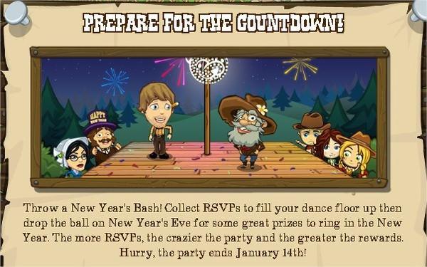 FrontierVille, 新年派對