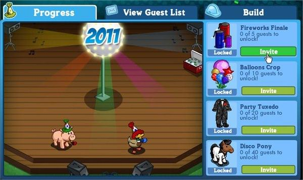 FarmVille, New Year Party