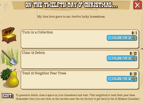 12 days o' christmas, XII