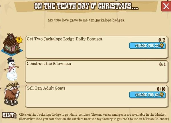 12 days o' christmas, X