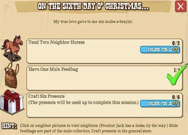 12 days o' christmas, VI