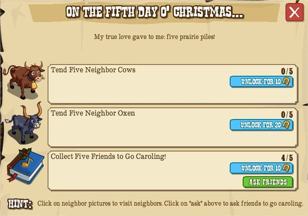 12 days o' christmas, V