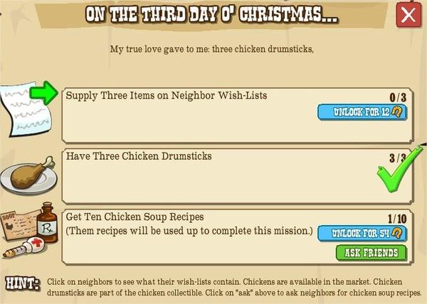12 days o' christmas, III