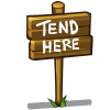 Tend Here Sign