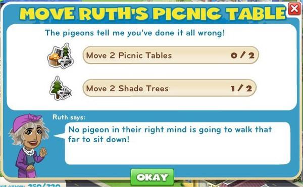 Move Ruth's Picnic Table