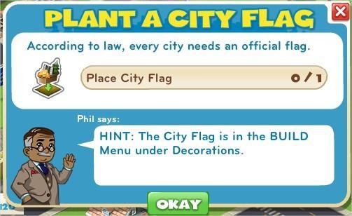 Place a City flag