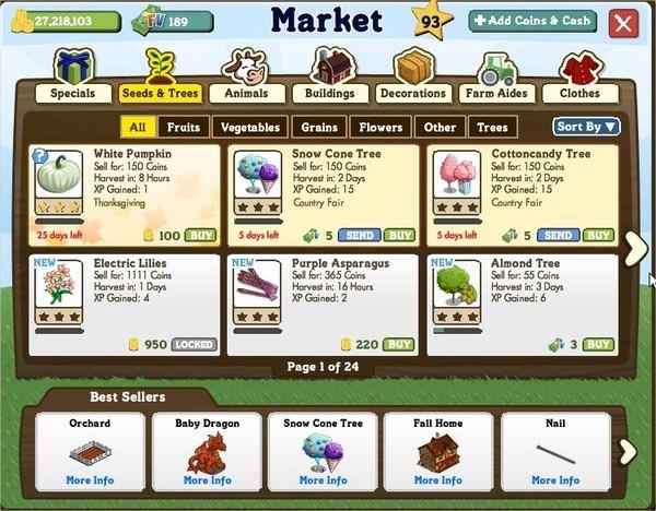FarmVille, 新版市場