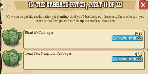 IN THE CABBAGE PATCH, PART II OF III